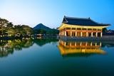 Gyeonghoeru Pavilion, Gyeongbokgung Palace, Seoul Fotografisk tryk af Robert Koehler