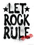 Aerosmith - Let Rock Rule Graffiti キャンバスプリント