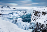 The Golden Waterfall - Gullfoss, Southern Iceland Fotografie-Druck von Paul Gudonsson