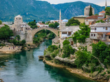 The Old Bridge of Mostar and Neretva River Photographic Print by Kelly Cheng Travel Photography