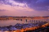 Gayang Bridge Seen from Noeul Park, Seoul Fotografisk tryk af Robert Koehler