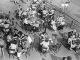 Outdoor Cafe Scene Photographic Print by George Marks