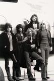 Aerosmith - Eurofest Jet 1977 (Black and White) キャンバスプリント