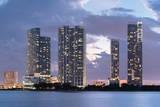 Miami Waterfront at Dusk Photographic Print by Raimund Koch