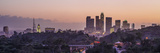 Panoramic View of Downtown Los Angeles at Sunset Fotoprint av Taesam Do