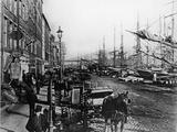 South Street Seaport New York Lámina fotográfica por Frederic Lewis