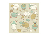 Cute Cartoon Sheep in Vector. Childish Set in Gentle Colors Art by  smilewithjul