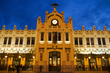 Modernista Facade of Estacion Del Norte (North Train Station), Valencia, Spain, Europe Fotografisk tryk af Greg Elms