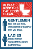 Clean Bathrooms Ladies Gentlemen Print
