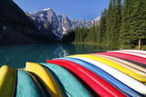 Moraine, Lake, Banff Nationalpark, Alberta Impressão fotográfica por Hans Peter Merten