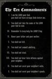 The Ten Commandments - Classic Print
