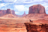 Cowboy in Monument Valley Photographic Print by  Kantor