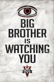 Big Brother is Watching You 1984 INGSOC Political Poster Fotografia