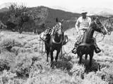 Man on Horseback Impressão fotográfica por George Marks