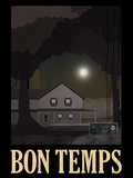 Bon Temps Retro Travel Poster Poster