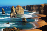 Apostles on Great Ocean Road, Melbourne Premium Photographic Print by Tristan Brown