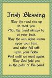 May the Road - Irish Blessing Lámina