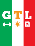 Jersey Shore GTL (Gym, Tan, Laundry) Print