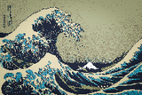 8-Bit Art Great Wave Stampe
