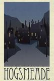 Hogsmeade Retro Travel Poster