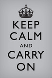 Keep Calm and Carry On, Grey 写真