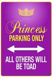 Princess Parking Only Purple Kunstdrucke