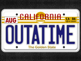 OUTATIME License Plate Print