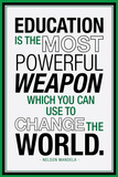 Education Nelson Mandela Quote Posters