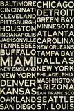 National Football League Cities Vintage Style Plakat