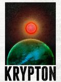Krypton Retro Travel Poster Photo