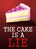 The Cake is a Lie Portal Video Game Poster Poster
