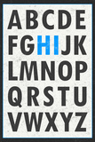 Hi Alphabet Blue Juliste