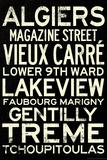 New Orleans Neighborhoods Vintage Subway Travel Poster Poster