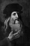 Leonardo Da Vinci Selfie Portrait Lámina