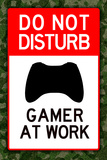 Do Not Disturb Xbox Gamer at Work Posters