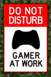 Do Not Disturb Xbox Gamer at Work Stampe
