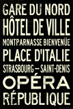 Paris Metro Stations Vintage Retro Metro Travel Posters
