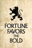 Fortune Favors the Bold Latin Proverb Kunstdruck