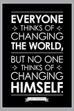 Leo Tolstoy Changing The World Quote Poster