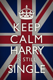 Keep Calm Harry is Still Single Plakat
