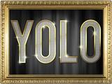 YOLO Bling Faux Frame Fotografia