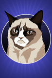 Grumpy Cat Cartoon Láminas