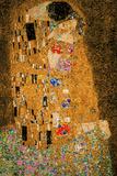 Gustav Klimt The Kiss 8 Bit Poster