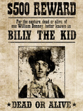 Billy The Kid Western Wanted Plakater