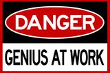 Danger Genius At Work Poster