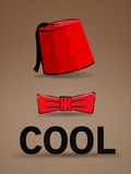 Fez and Bowtie Cool Posters
