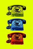 Vintage Rotary Telephone Pop Art Kunstdrucke