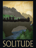 Solitude Retro Travel Poster Poster