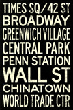 New York City Subway Style Vintage Travel Poster Planscher