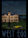 West Egg Retro Travel Poster